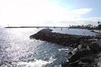 Sea, Water, Ocean, Shoreline, Coast, Rock, Cove, Beach, Boat, Vehicle, Bird, Waterfront