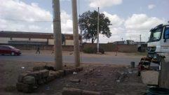 Automobile, Vehicle, Car, Wheel, Building, Flagstone, Path, Road, Pillar, Column, Truck, Tire, City, Town, Urban