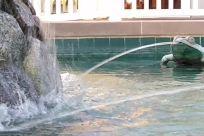 Fountain, Water, Rock, Art, Sculpture, Statue, pond, squirt