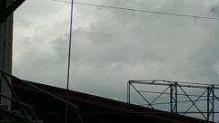 Banister, Handrail, Lamp Post, Building, Weather, Tower, Railing, Field, Billboard, Fence, Sky, Sport, Sports, Team, Team Sport