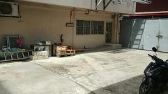 Motorcycle, Vehicle, Flagstone, Wood, Floor, Flooring, Plywood, Patio, Concrete, Porch, Housing, Building, Door, Brick, Furniture
