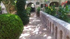 Flagstone, Garden, Arbour, Building, Villa, Housing, House, Plant, Slate, Patio, Potted Plant, Pottery, Vase, Jar, City