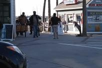 Boardwalk, fisherman, social distancing, mask