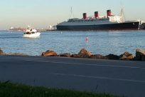 Vehicle, Boat, Ship, Watercraft, Water, Ocean, Sea, Waterfront, Shoreline, queen mary