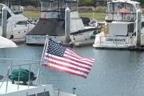 Boat, Flag, Watercraft, American Flag, Yacht