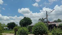 Weather, Cloud, Cumulus, Sky, Plant, Garden, Tree, Vegetation, Arbour, Building, Countryside, Shelter, Rural, Porch, Grass