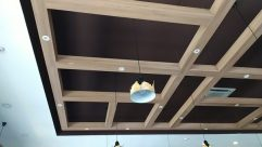 Light Fixture, Ceiling Light, Lighting, Building, Ceiling Fan, Appliance, Door, Bird, Furniture, Tabletop, Aircraft, Vehicle, Airplane, Interior Design, Cafeteria