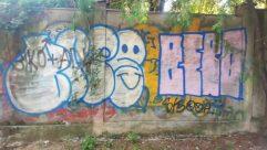 Road, Building, Town, Street, City, Path, Plant, Tree, Graffiti, Art, Mural, Painting, Vegetation, Wall, Garden
