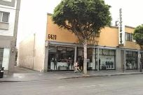 Traffic Light, Light, Road, Vehicle, Automobile, Car, Street, City, Town, Building, Neighborhood, Zebra Crossing, Intersection, Shop, Plant