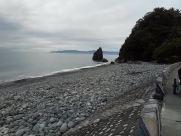 Water, Shoreline, Sea, Ocean, Rock, Beach, Coast, Road, Dirt Road, Gravel, Pebble, Promontory, Landscape, Bird, Path