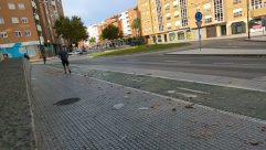 Road, Path, Intersection, City, Town, Street, Building, Automobile, Car, Vehicle, Sidewalk, Pavement, Neighborhood, Downtown, High Rise