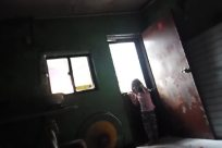 Pants, Interior Design, Lighting, Train, Vehicle, Face, Furniture, Chair, Room, Jeans, Denim, Photo, Photography, Sitting, Portrait