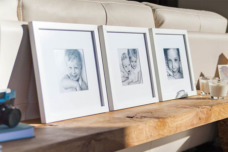 Ideas para decorar paredes con fotos enmarcadas