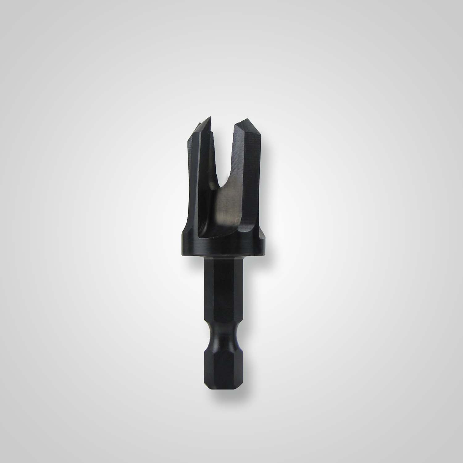 "Snappy 1//4/"" tapered plug cutter w//hex shank"