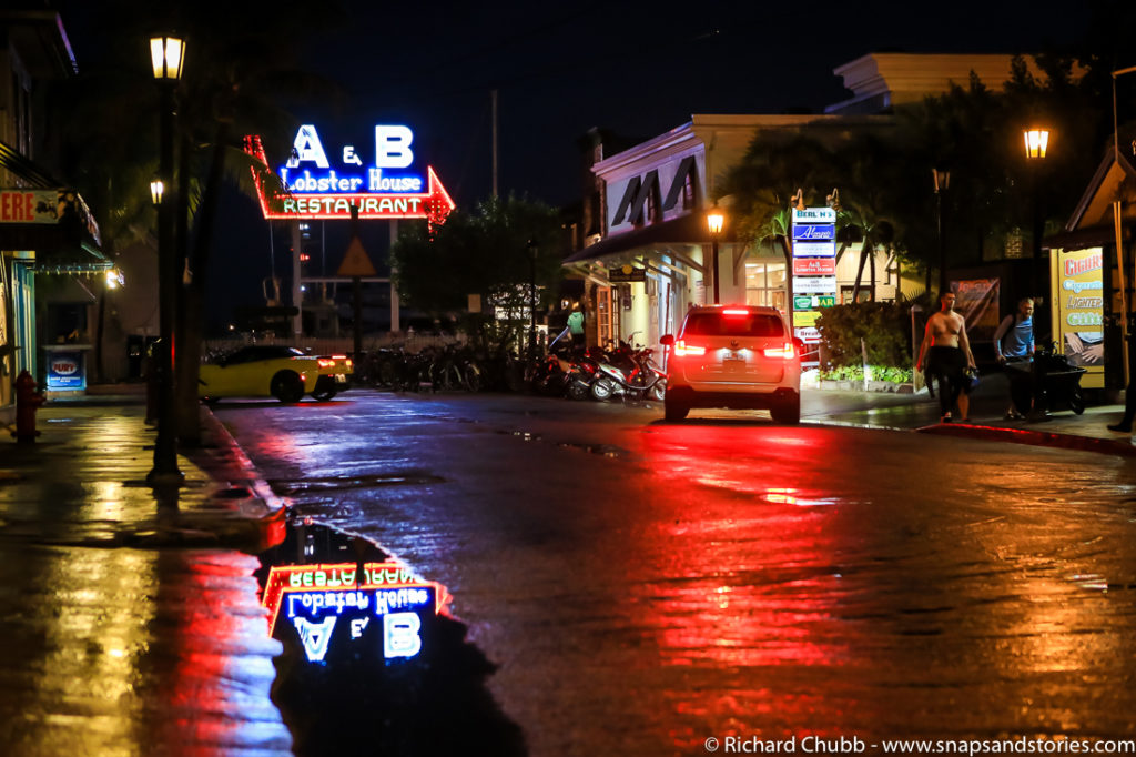 A & B Lobster House in Neon