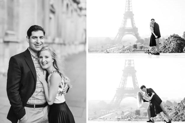 paris engagement session louvre eiffel tower lock bridge photography