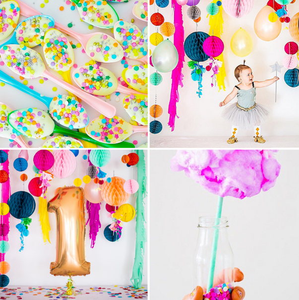 Ruby's Confetti-Filled First Birthday Party