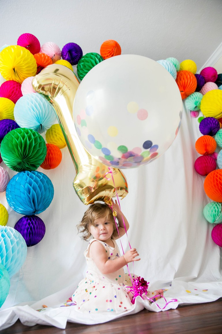 Photo (1 of 1)-139First Birthday Confetti Theme Party Kids Houston Bright Colorful Modern Creative Ideas