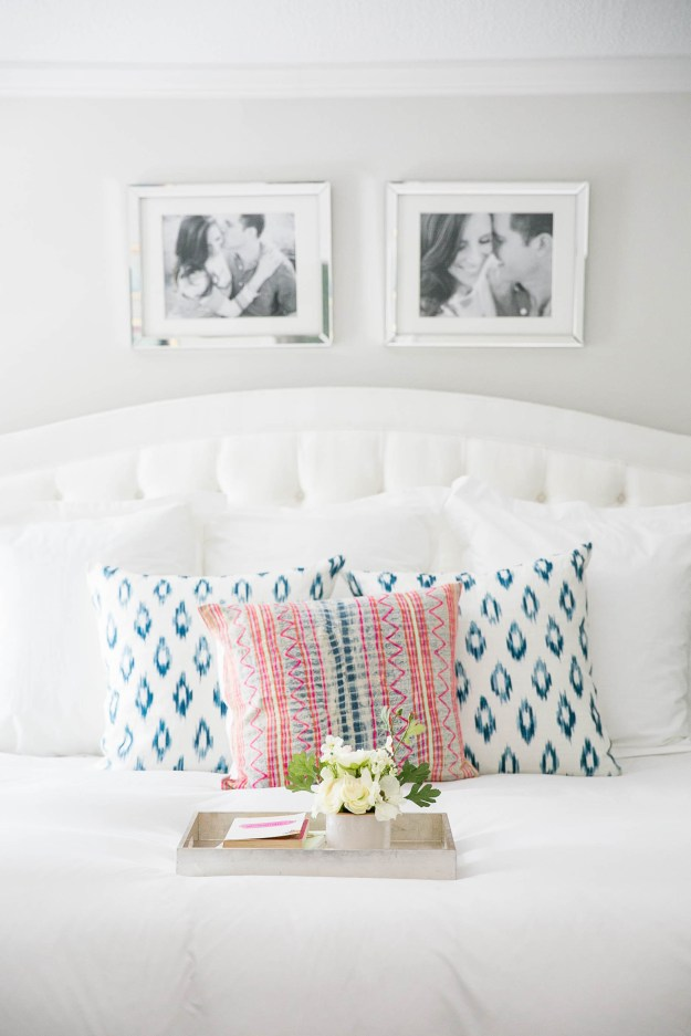 Ailee Petrovic Master Bedroom Ethan Allen Modern White Clean Contemporary Pop Color