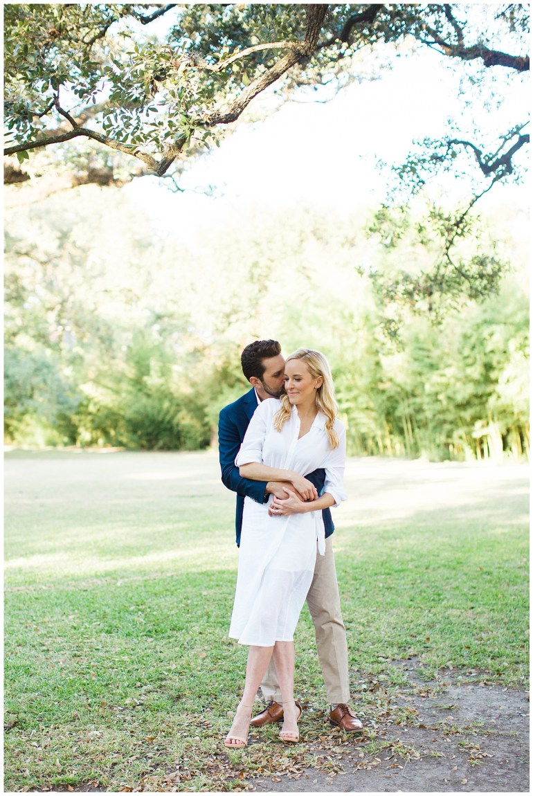 Romantic Houston Engagement Photos at Boulevard Oaks in West U by Ailee Petrovic