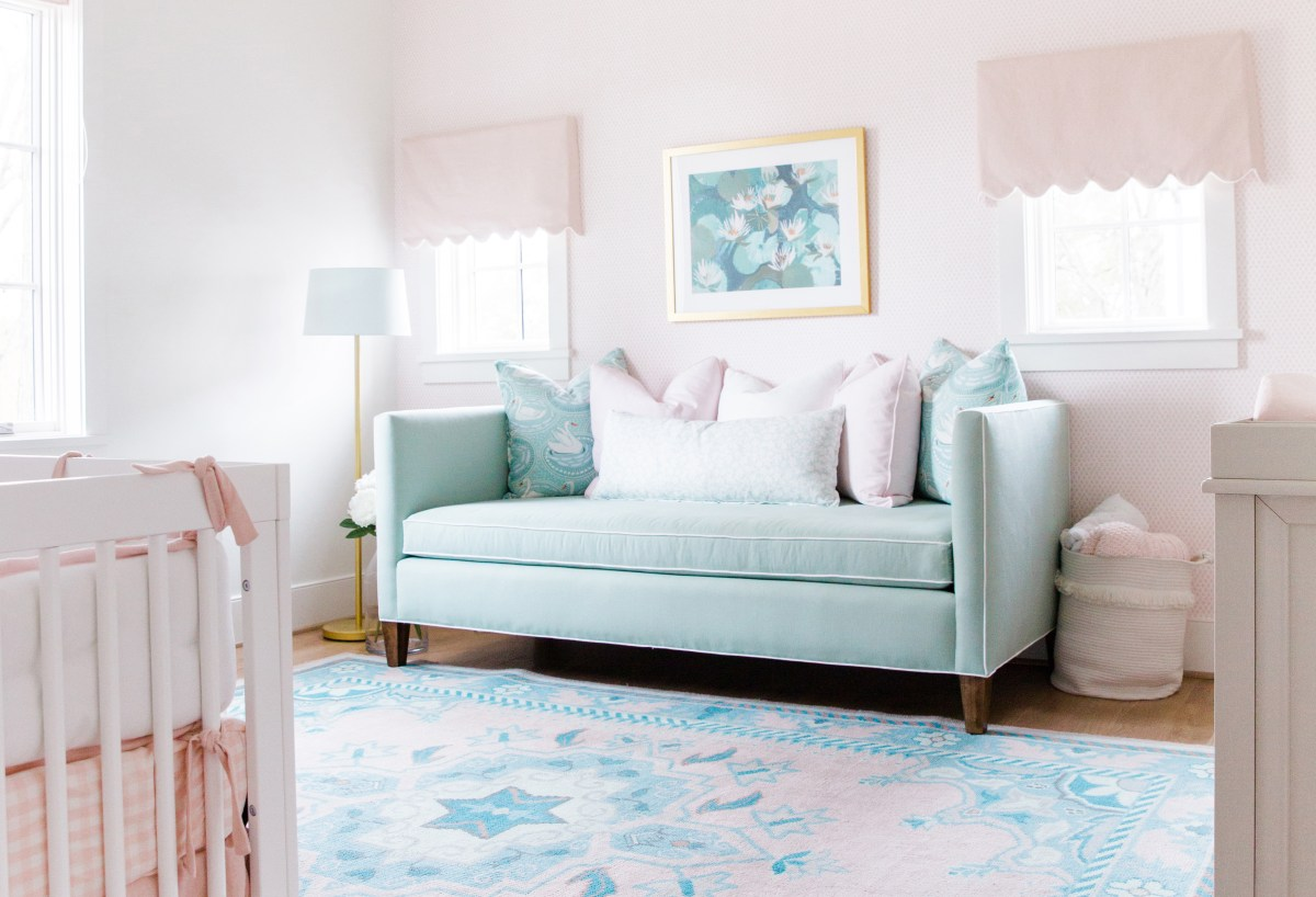 Georgie S Blush Pink Robin S Egg Blue Nursery Reveal Snapshots My Thoughts By Ailee Petrovic