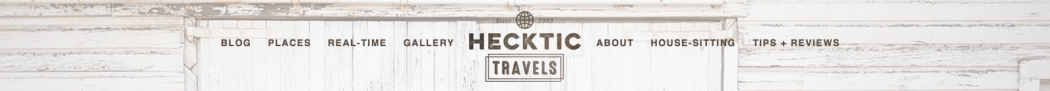 Hecktic Travels website header