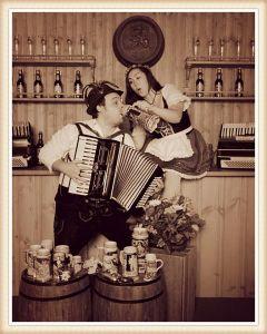 couple in Leavenworth, wa in costume
