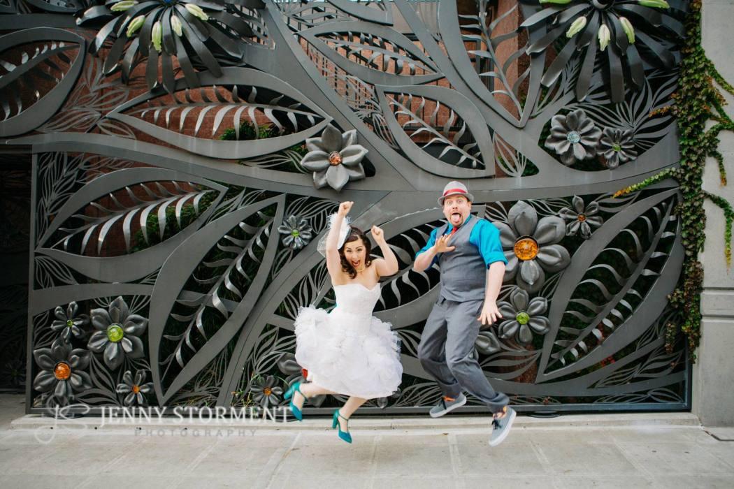 wedding jumping