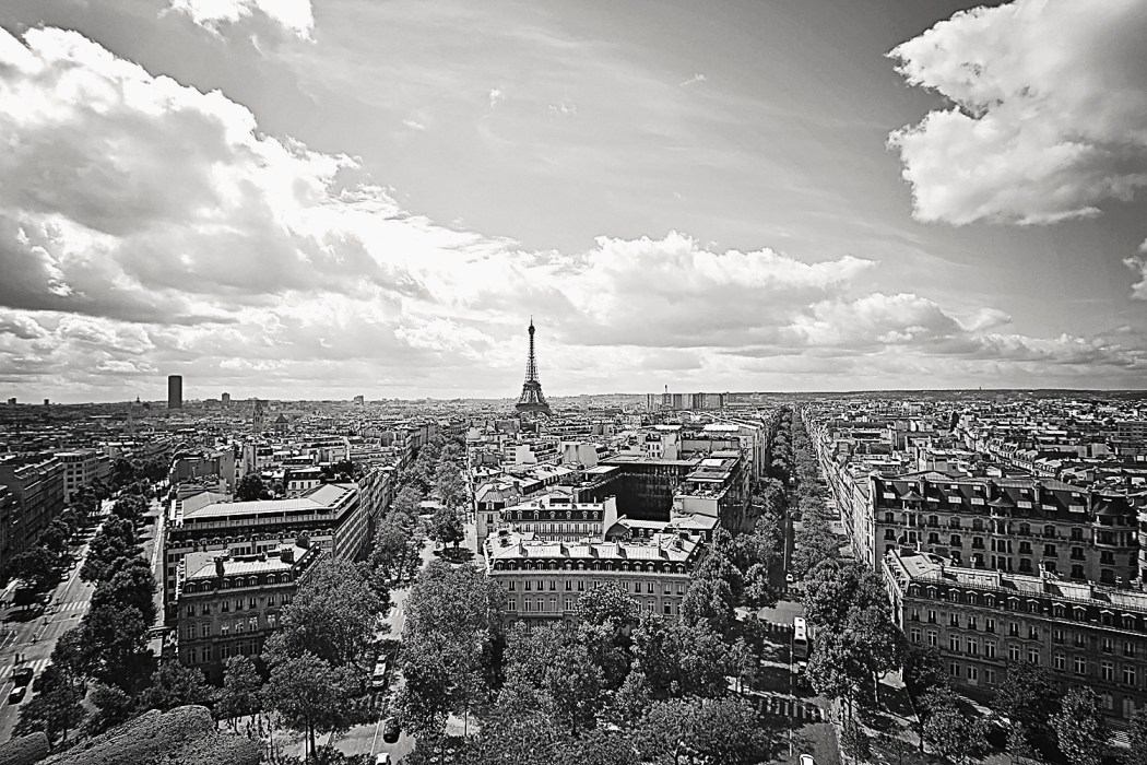 Paris view from the Arc De Triumph