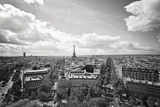 Paris view from the Arc De Triumph