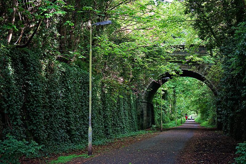 Edinburgh walkway tunnel