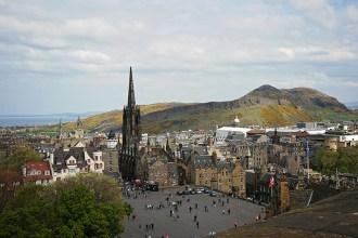 Edinburgh castle view