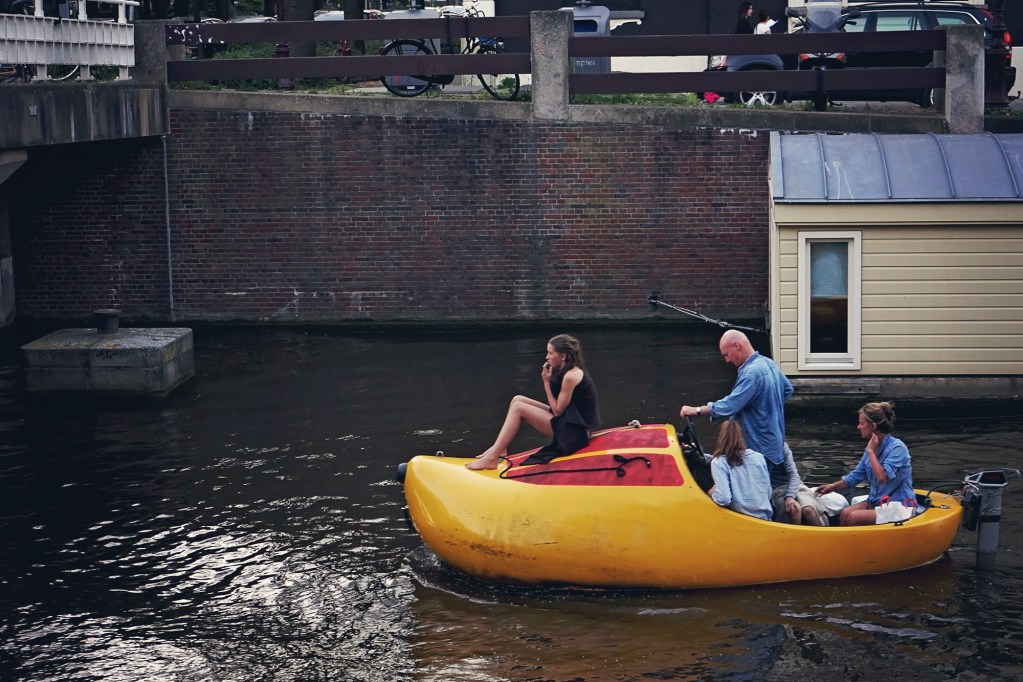 Amsterdam Canal clog boat
