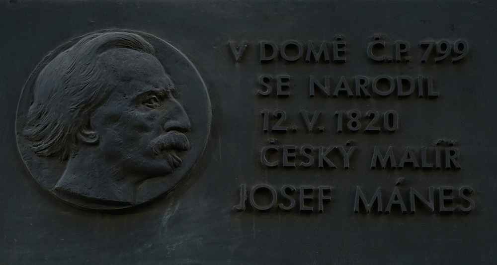 Josef Mánes plaque Prague