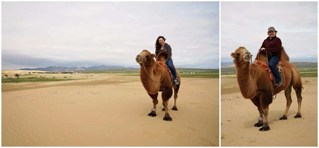 riding camels in mongolia