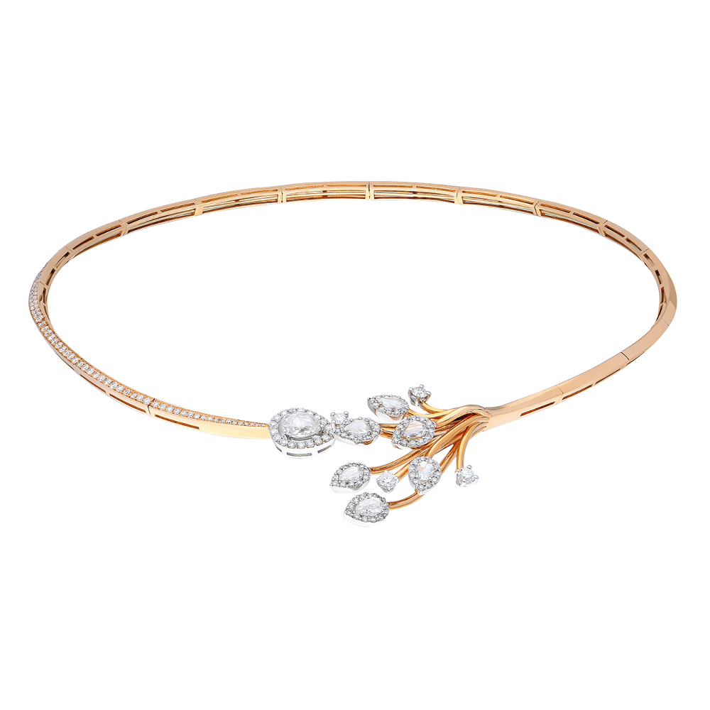 The Everose Choker by Terzihan in 18K Rose Gold with White Diamonds ($20,200)