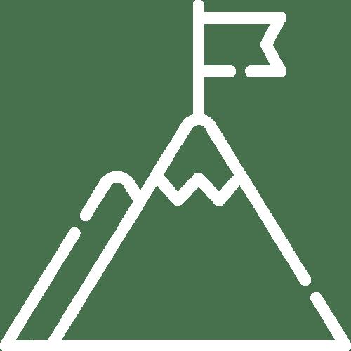 mountain with flag icon