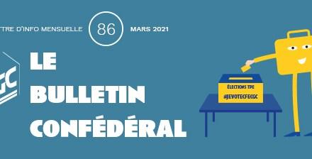 Bulletin confédéral n°86 – Mars 2021