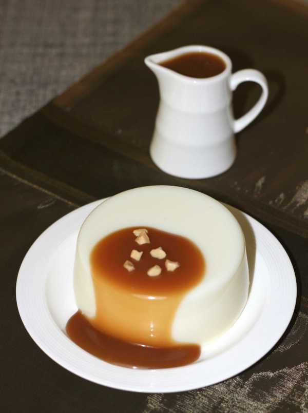 Panna Cotta With Butterscotch Sauce