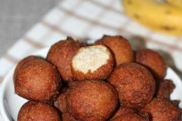 Fried banana balls