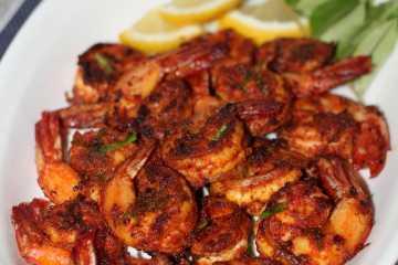 Spicy prawn fry