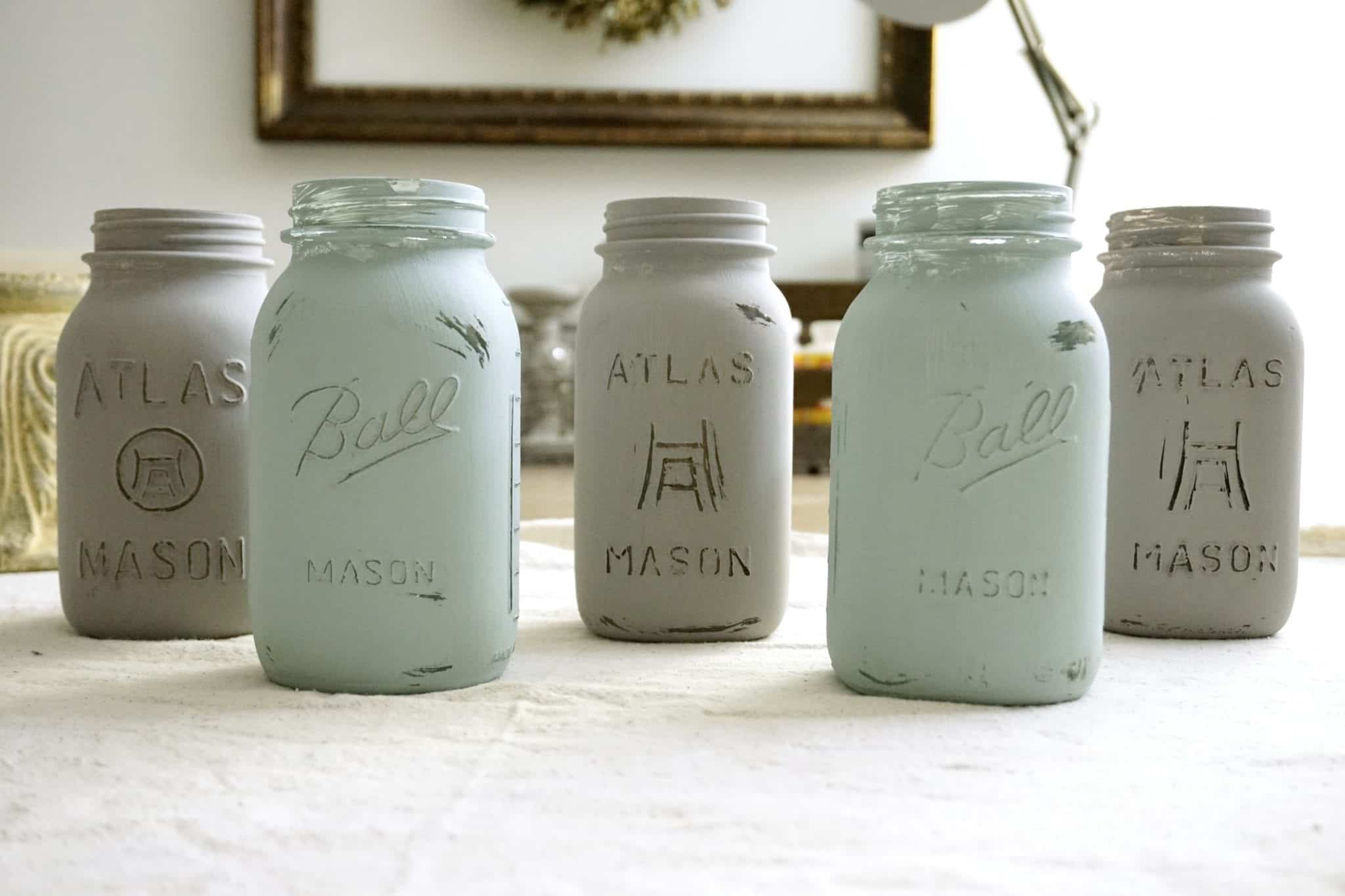 Chalk Painted Mason Jars Snazzy Little Things