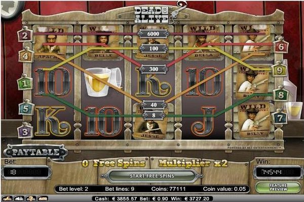 Big Win on Dead or Alive Slot at Whitebet Casino