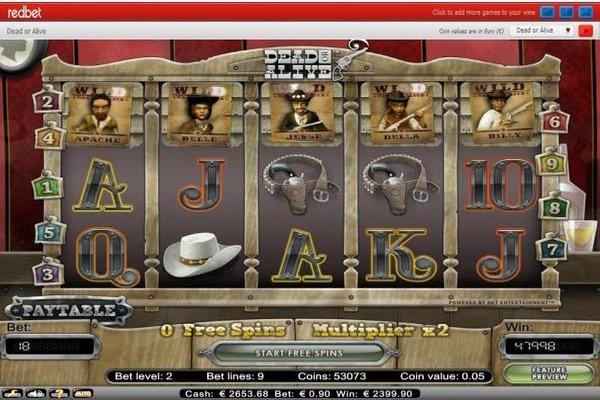 Redbet Casino - Big Dead or Alive Win