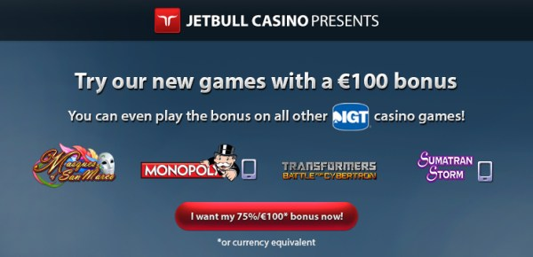 Jetbull 75% Reload Bonus