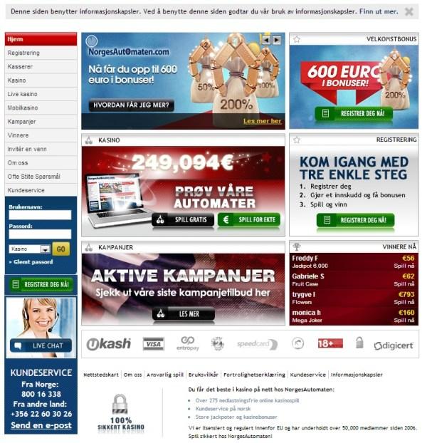 200% Casino Bonus - NorgesAutomaten