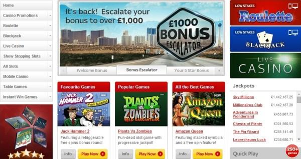 SkyVegas Casino 10 Pounds Free