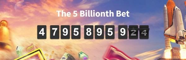 Betsson Casino 5 Billionth Bet