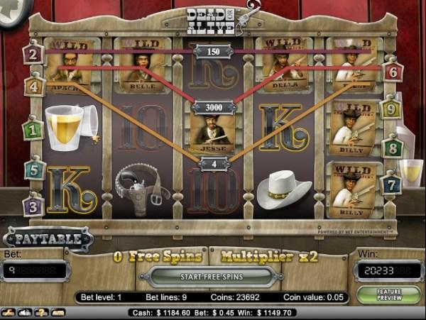 Dead or Alive Slot Win
