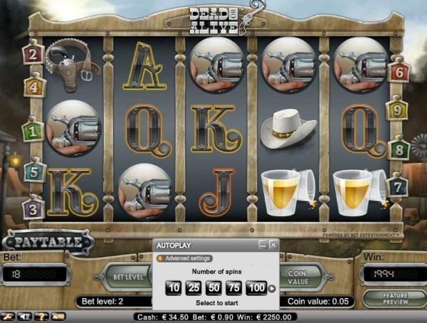 Casino Euro Big Win Dead or Alive
